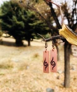 گوشواره مسی دست ساز طرح برجسته بلنس ایر